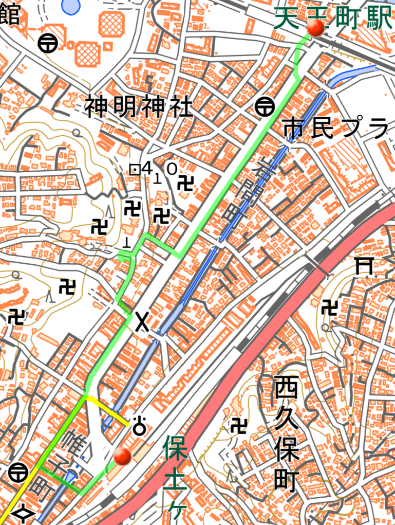 hodogayajyuku_map